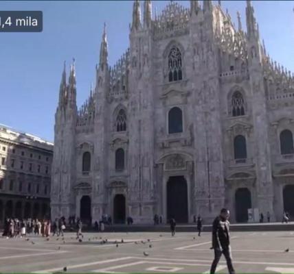 Il duomo di Milano catturato dalle telecamere della diretta di Corriere TV