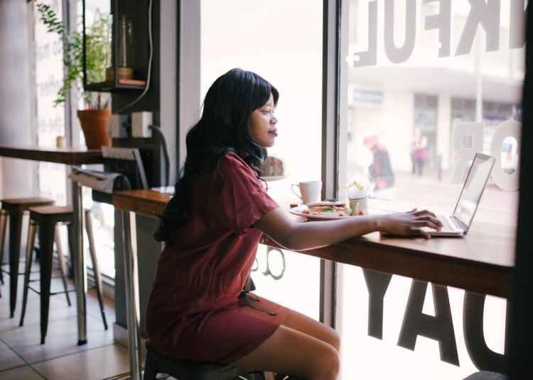 A black female entrepreneur planning her business finances
