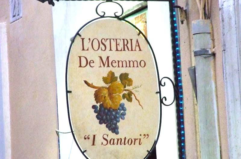 """Osteria de Memmo """"I Santori"""""""