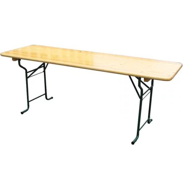 table pliante 60 200 70 220 80 220