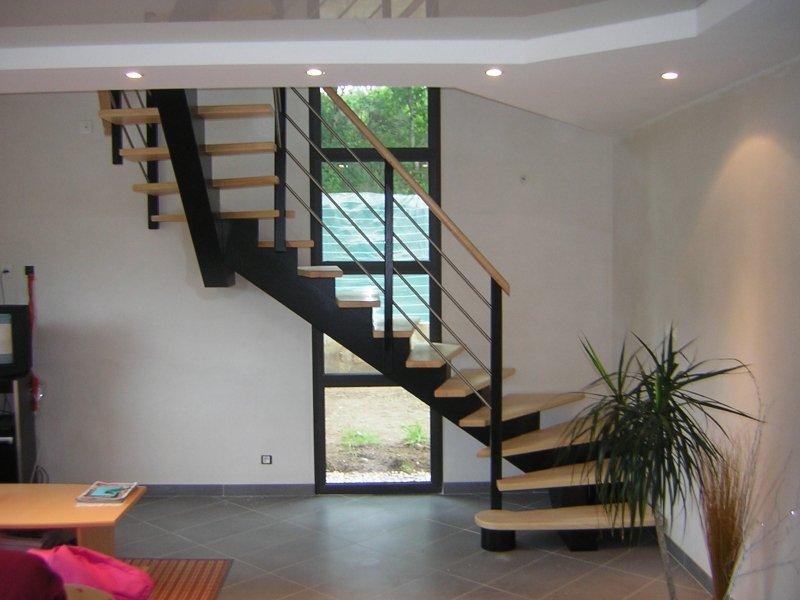 Escaliers Bois Et Tubes Inox Menuiserie Raguet Blain Escaliers Lambris Parquet Bardage