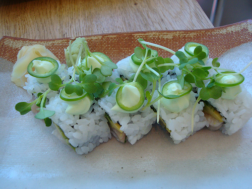 Spicy Yellowtail Roll. Photo by Katherine Lynch