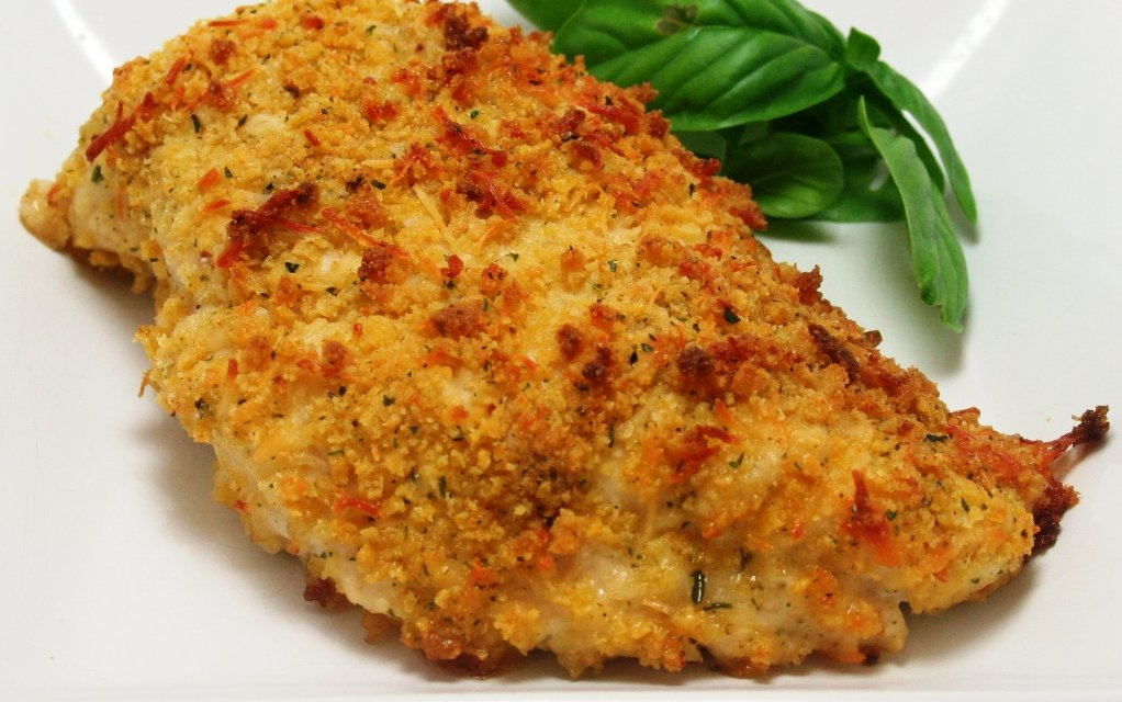 chicken baked breasts breaded