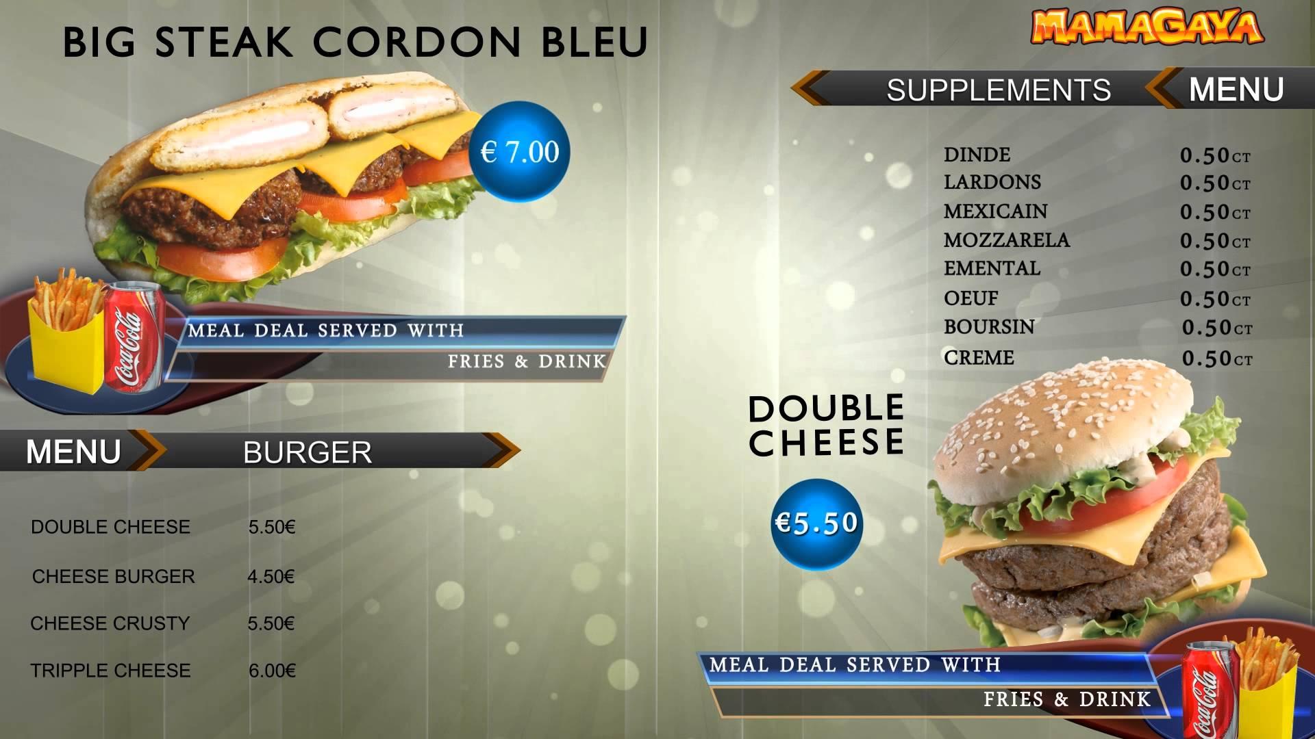 Blank Menu Template Food