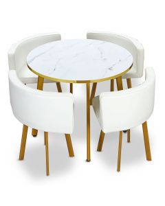 ensemble table et chaises design et pas