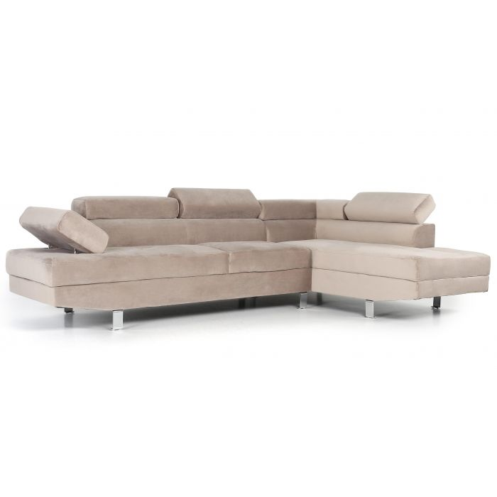 canape d angle avec tetieres relevables alfa velours taupe