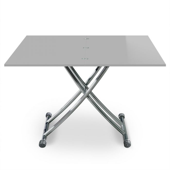 table basse relevable carrera gris laque