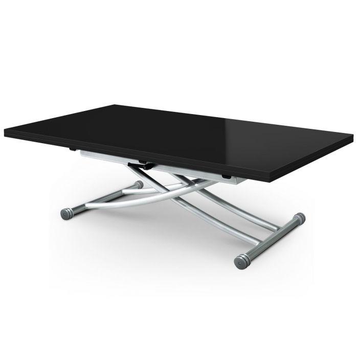 table basse relevable carrera xl noir laque