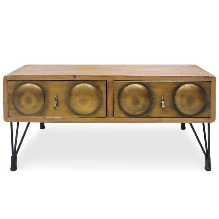 table basse boomer bronze