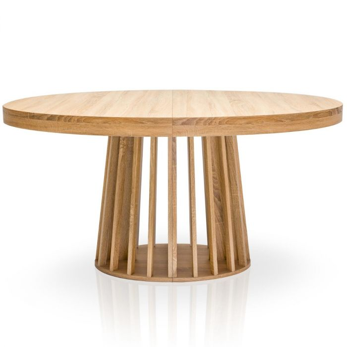 table ovale extensible eliza chene clair