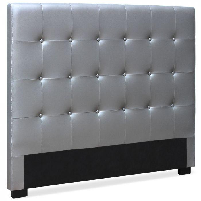 tete de lit luxor 140cm argent