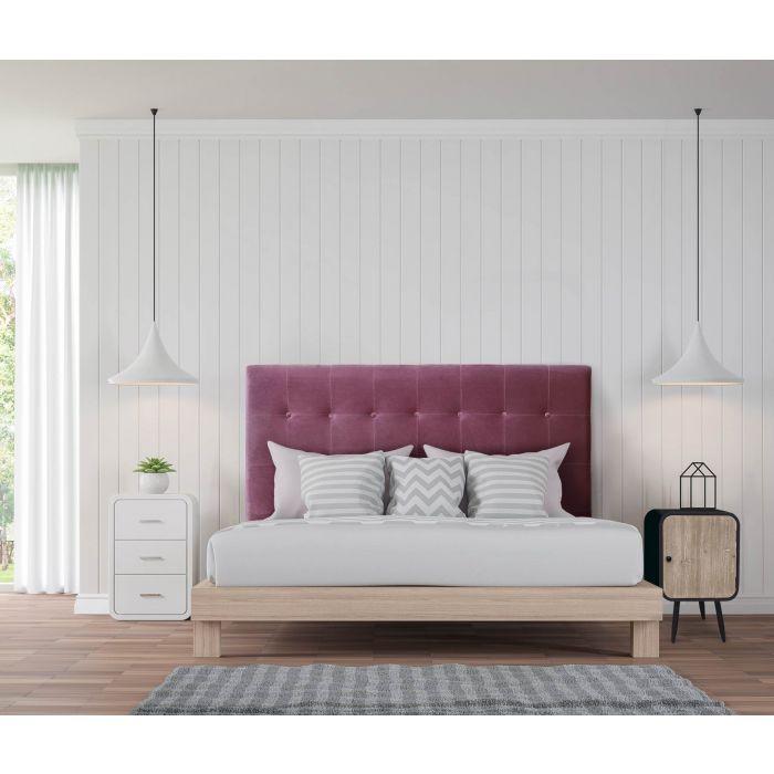 tete de lit luxor 160cm velours violet