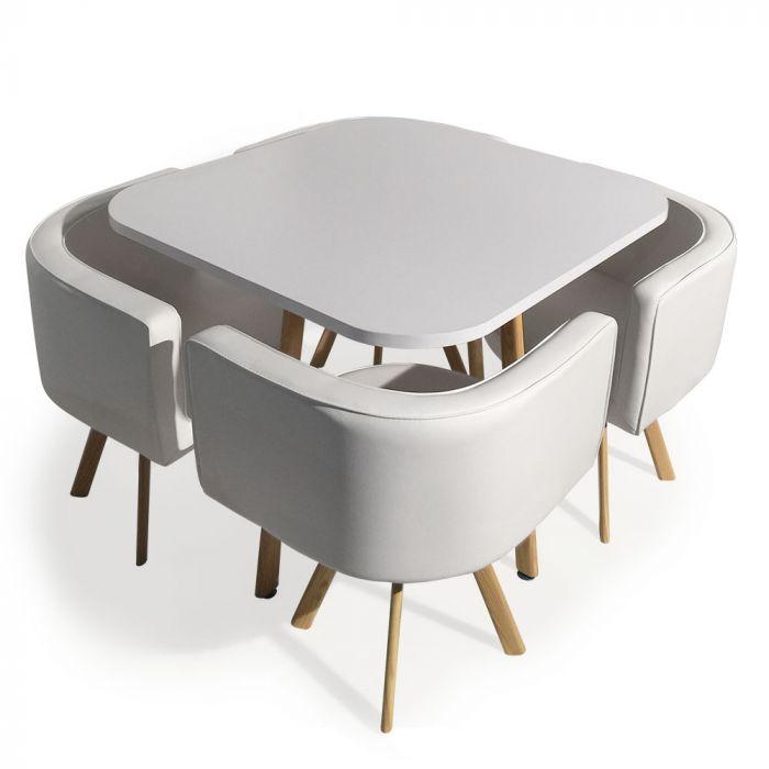 table et chaises scandinaves oslo blanc
