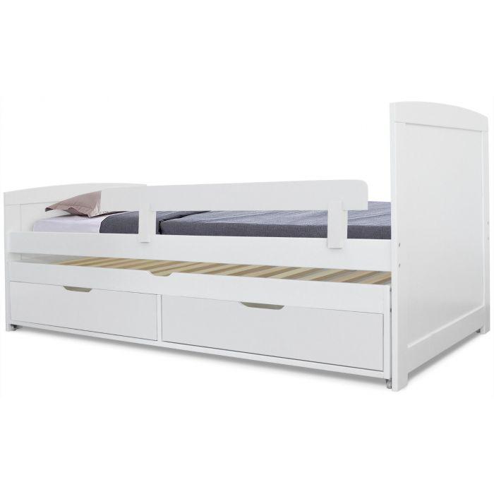 https www menzzo fr lit gigogne enfant avec sommiers et tiroirs patapon blanc html