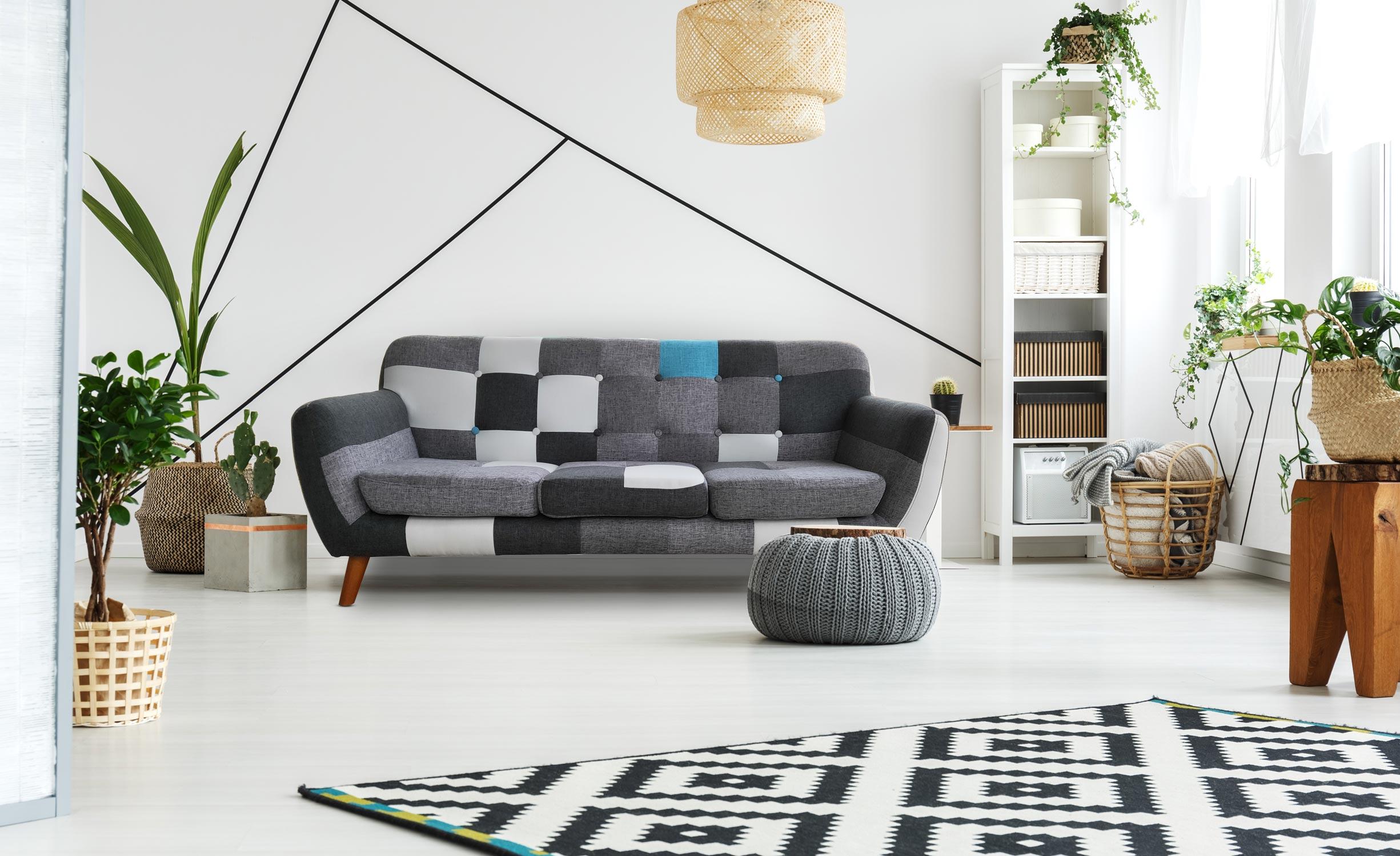 salon decoration scandinave meubles