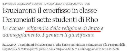 Religione di stato / Corriere della Sera