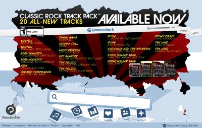 Grooveshark - Rockband Ads