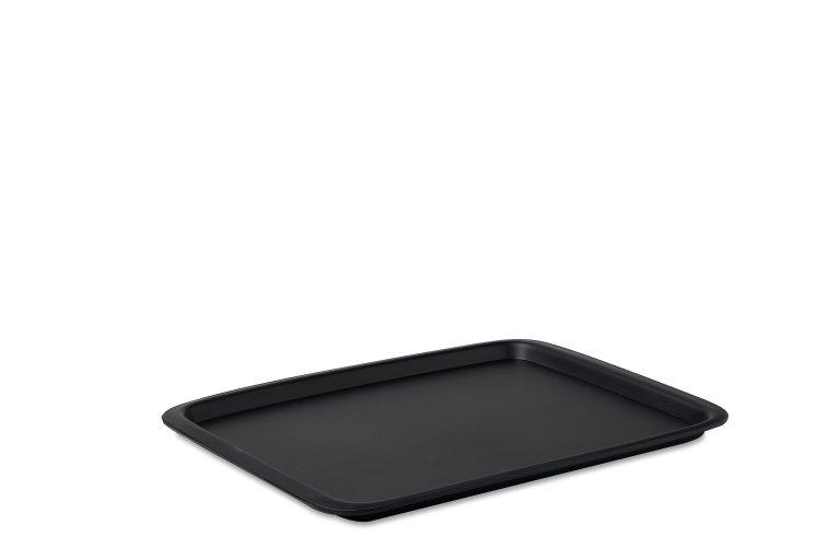 serving tray rectangular black