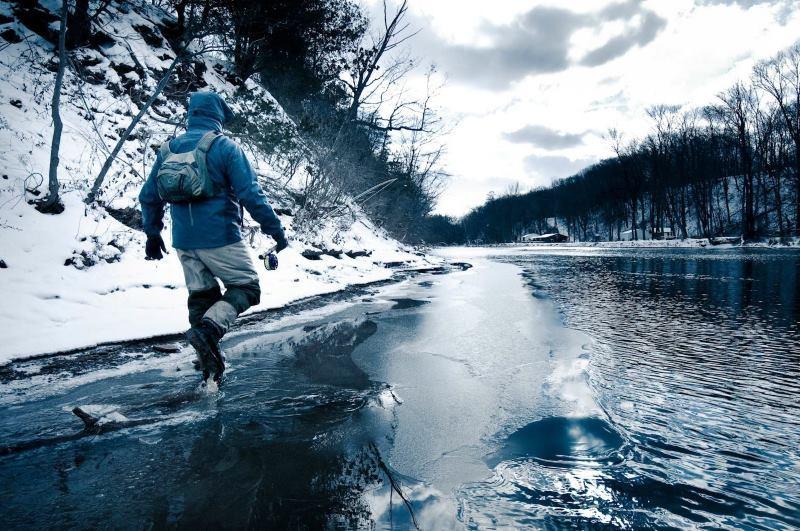 La pesca de invierno en el Pirineo