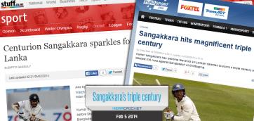 Kumar Sangakkara scores maiden triple ton