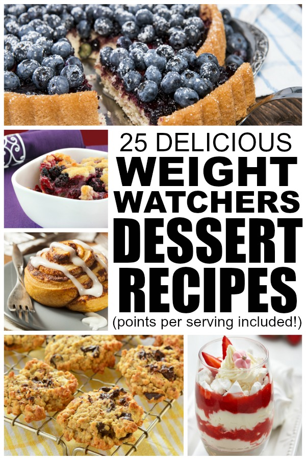 Trying to lose weight, but can't stand the idea of living a life without dessert? NO WORRIES! This collection of 25 weight watchers recipes with points is filled with dessert recipes that will satisfy your craving without ruining your diet. I've included the number of weight waters points/pointsplus per serving for all 25 of these dessert recipes, and I really hope this collection of dessert ideas helps on your quest for a healthier (and skinnier!) 2015!