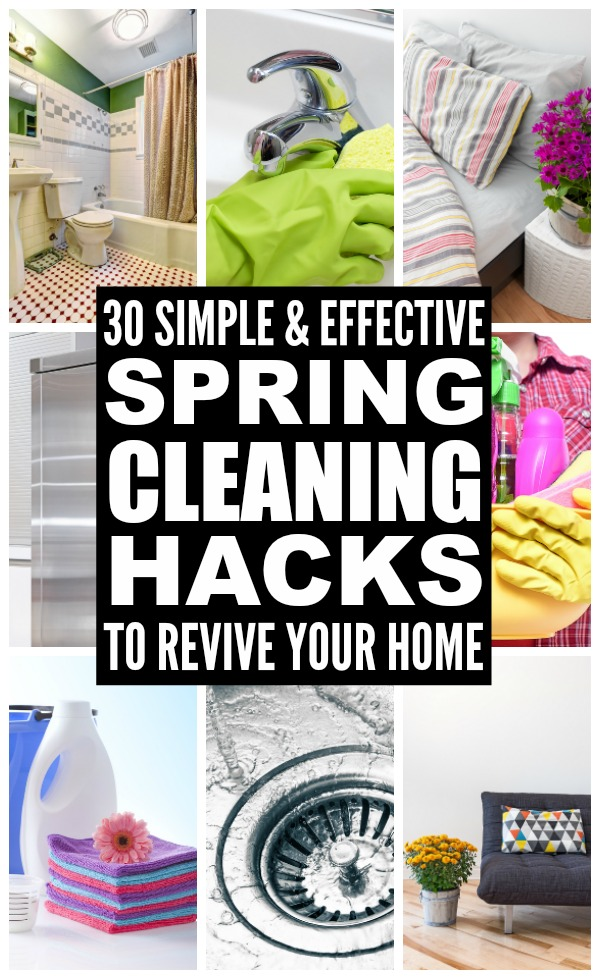 One of my favorite things to do once spring hits is to give our condo a deep clean. There's just something so therapeutic about restoring order and balance into our lives after 5+ months of snow and misery, you know? And thanks to these AMAZING spring cleaning hacks, I am equipped with all kinds of tips and tricks to help me clean and disinfect every square-inch of our home. What are your favorite things to do when the weather starts to warm up?
