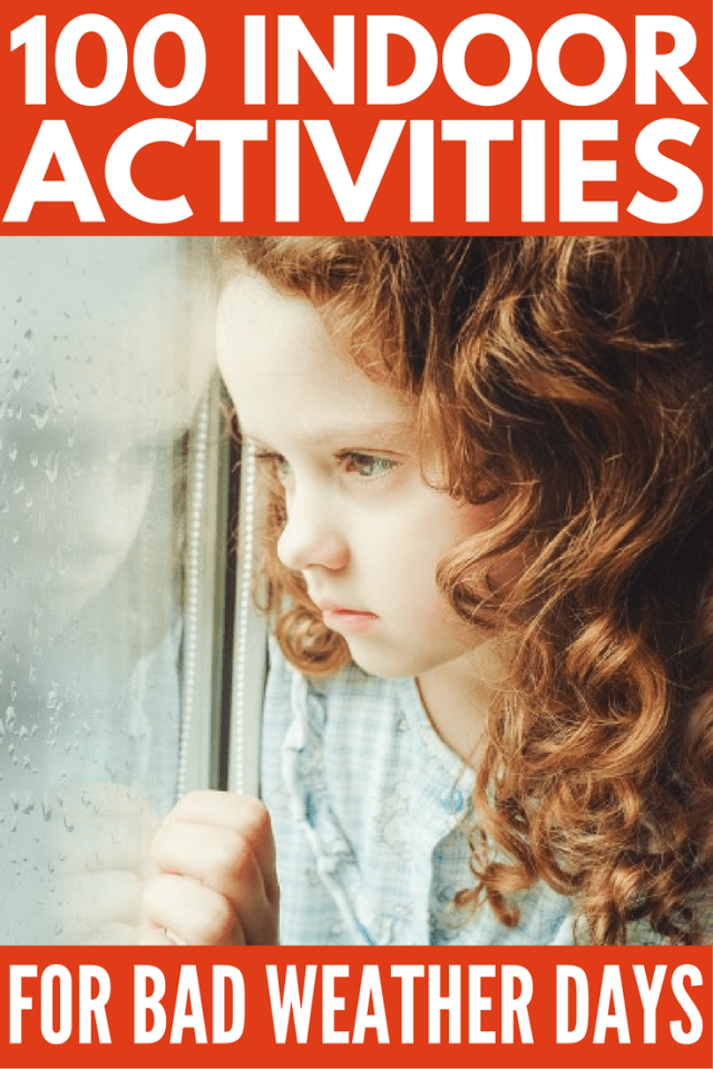 Looking for easy and fun indoor activities for kids you can set-up at home when the weather's too gross to go outside? We've got you covered. Perfect for rainy days in summer and snow days in winter, these activities, games, arts, and crafts will keep you and your little ones from climbing the wall when school's out and desperation calls!