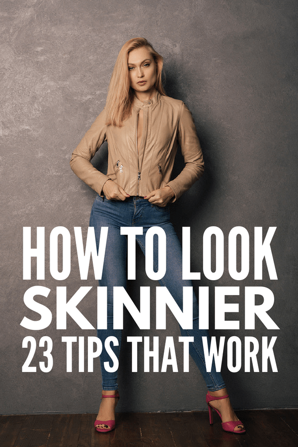 How to Dress to Look Thinner | Want to lose 10 pounds without exercising or dieting? Whether you're plus size or just want to know how to dress for your body shape, these tips and ideas are for you! We'll teach you what to wear, the importance of choosing clothes that fit, how to avoid cellulite on your legs, the best neckline, and everything you need to know about skirts, jeans, pants, patterns, and more! #lookthinner #dressthinner #looktaller #fashionhacks #beautyhacks #loseweight #flatbelly
