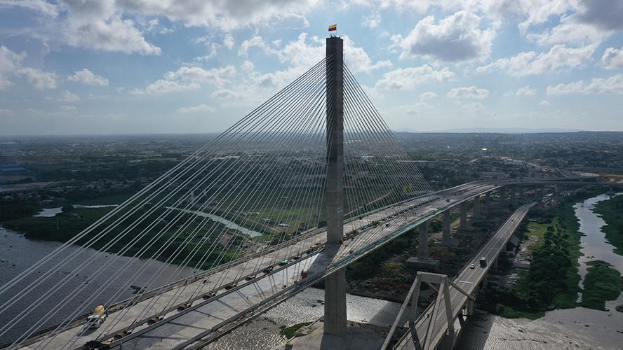 Resultado de imagen para Colombia inaugura el puente más ancho de Latinoamérica, construido por Sacyr