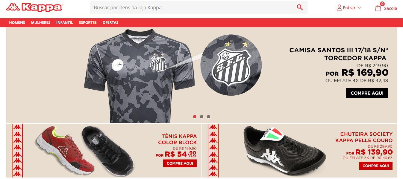 407880a561 Kappa lança loja virtual oficial no Brasil em parceria com a Netshoes