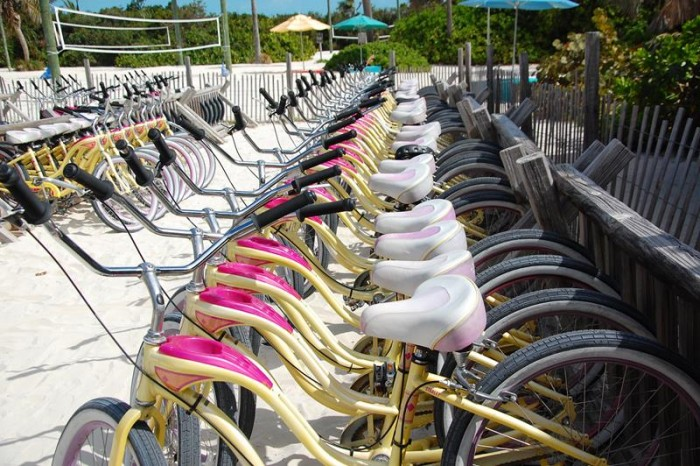 Ilha permite aluguel de bicicletas