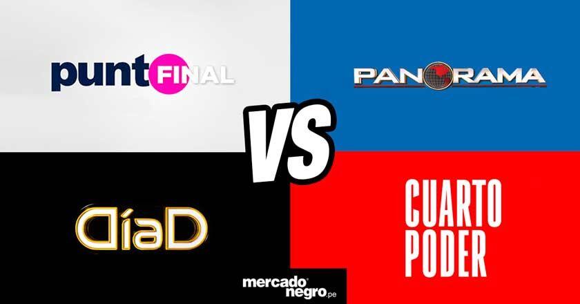 Guerra por el rating: Cuarto Poder, Día D, Punto Final y Panorama ...