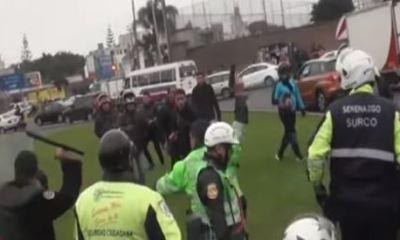 Campaña provoca enfrentamiento entre motociclistas y fiscalizadores en Surco