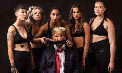 Las mujeres someten a Donald Trump en el Times Square