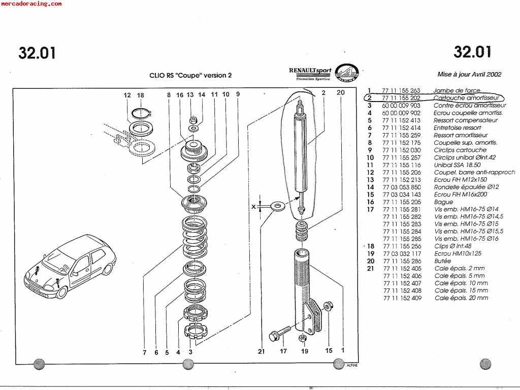 Vendo Amortiguadores Clio Cup Fase 3
