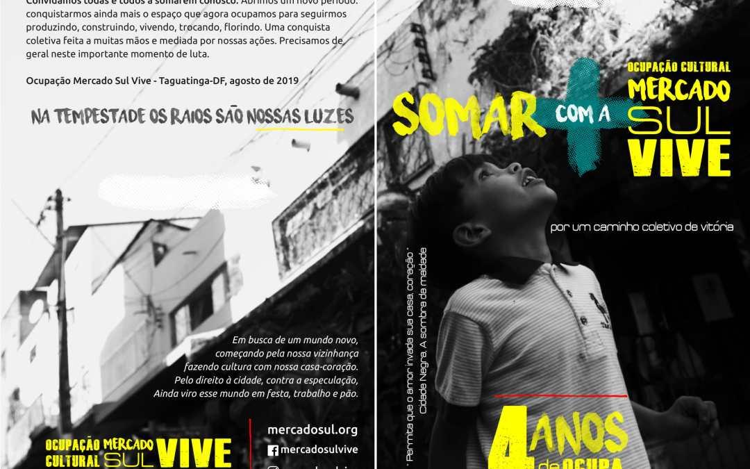 Comunicado 01/2019: Na tempestade os raios são nossa luz: um caminho coletivo de vitória da Ocupação Mercado Sul Vive