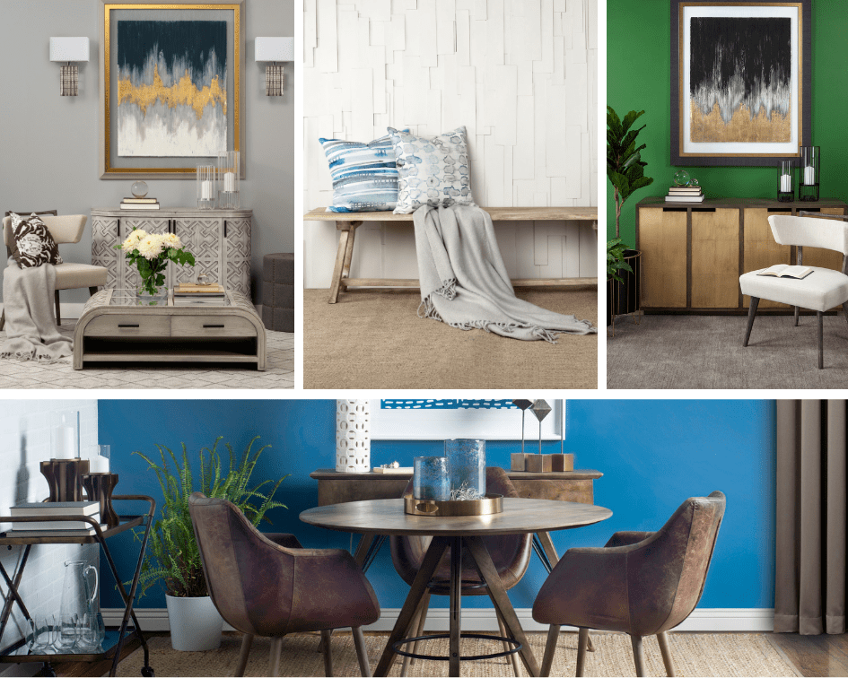 Examples of Subtle, Classic and Vibrant Wall Colors