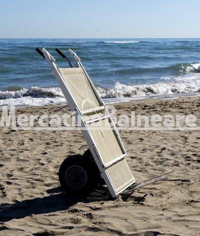 Carrello Sdraio Da Spiaggia.Carrello Porta Lettini Da Spiaggia In Acciaio Inox Mercatino Balneare