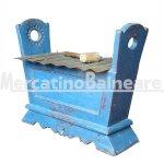 Xilofono blu in legno di recupero
