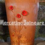 Vaso decorativo con Papaveri