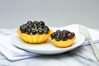 Fresh Blueberry Tart with Custard