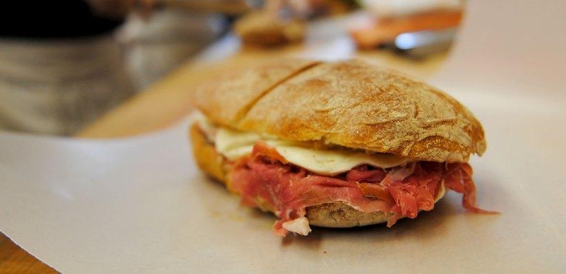 Prosciutto di Parma & Mozzarella sandwich in Brooklyn, NY