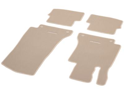 jeu de tapis mercedes classe c coupe beige velours classic