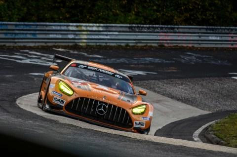 Jubiläum: Zehn Jahre Mercedes-AMG Customer Racing - GT-Erfolge made in Affalterbach Foto: Erster Renneinsatz des neuen Mercedes-AMG GT3 auf der Nürburgring-Nordschleife 2019