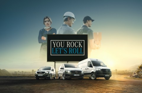 You rock, let's roll! - Mercedes-Benz Vans startet europaweite Kampagne