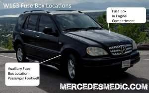 19982005 Benz ML320 ML350 ML500 Fuse Box Location Diagram – MB Medic