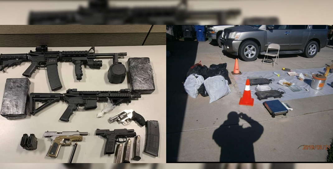 Several weapons and drugs seized in Chowchilla