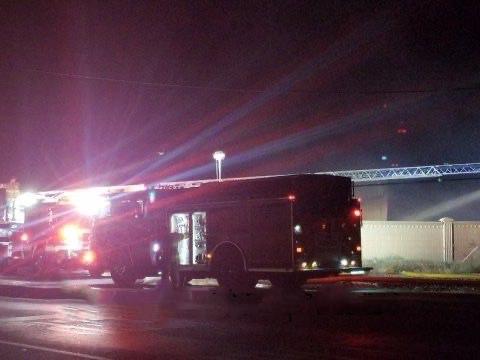 Merced Fire on Scene