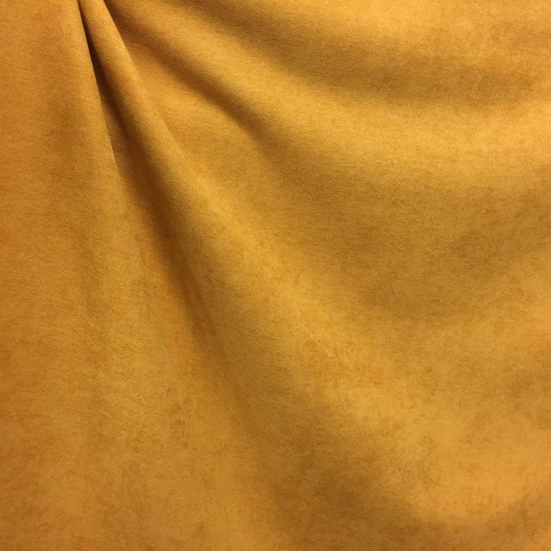 tissu rideau occultant souple alaska jaune moutarde mercerine