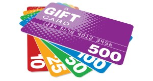 a bunch of gift cards